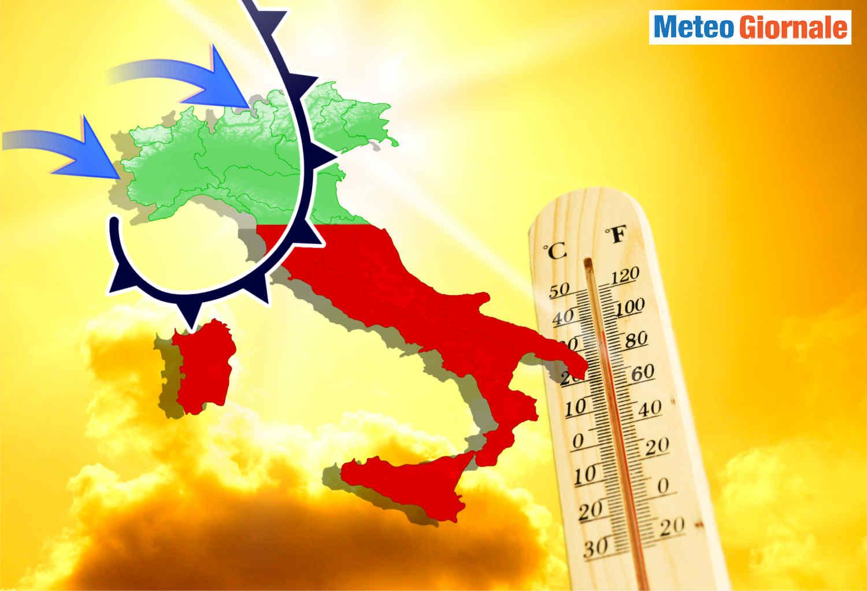 meteo giugno 2021 - METEO a GIUGNO l'Alta Pressione d'Africa e l'Italia