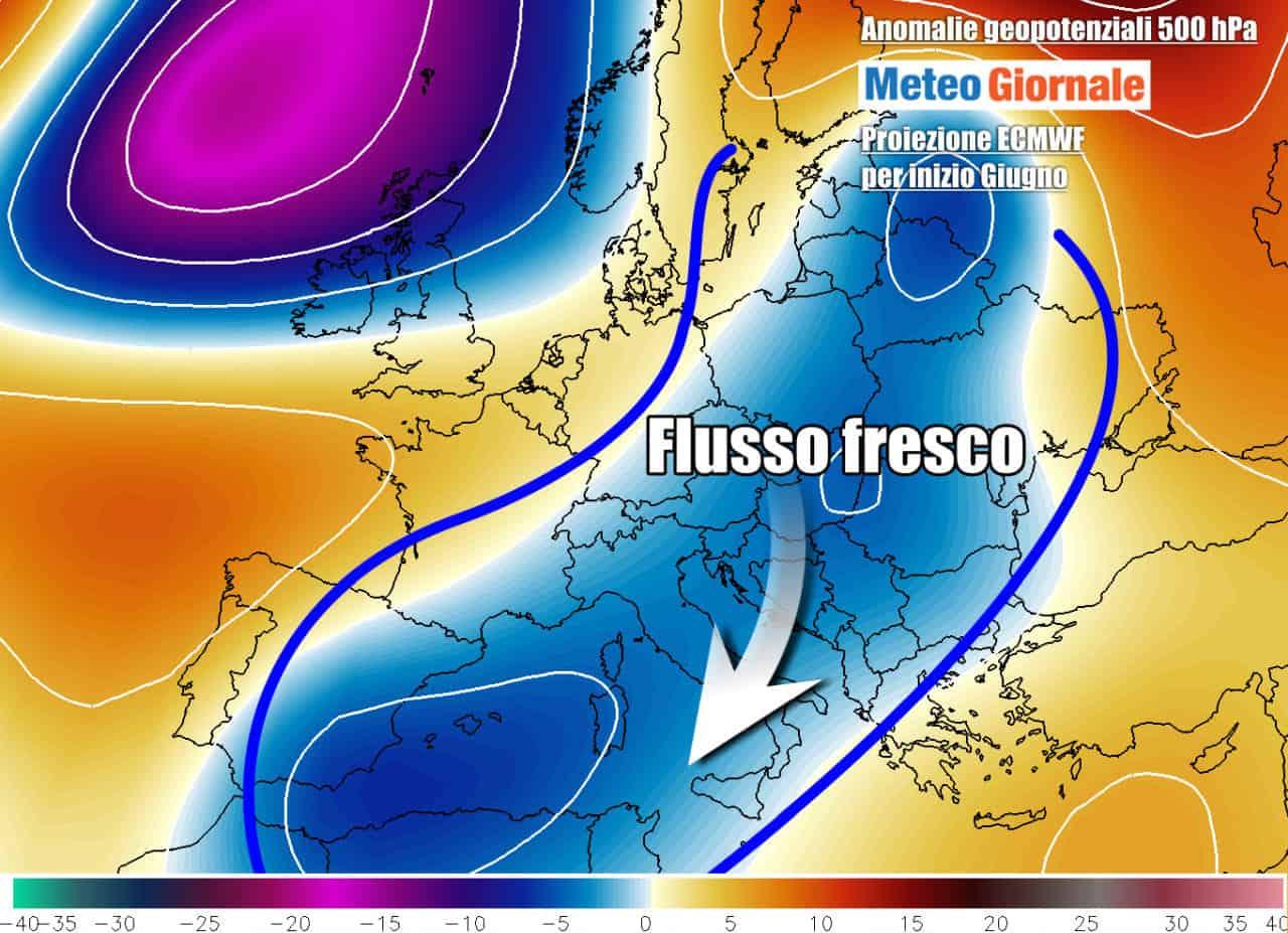 meteo inizio giugno - Meteo del Ponte del 2 Giugno. Italia a rischio aria Fresca e Temporali