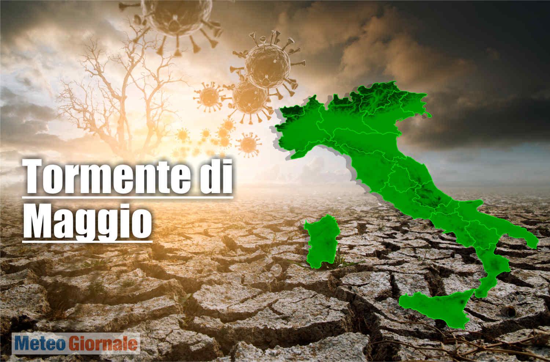 meteo maggio 2021 tormentato - Il Caldo FURIOSO di Maggio potrebbe scatenare TORMENTE. Pioggia su attività aria aperta