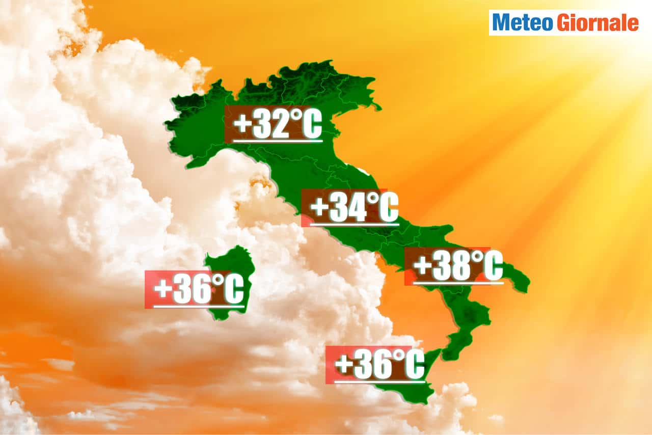 meteo verso ondate di caldo - METEO, ed ecco il CALDO estivo a oltre 30°C
