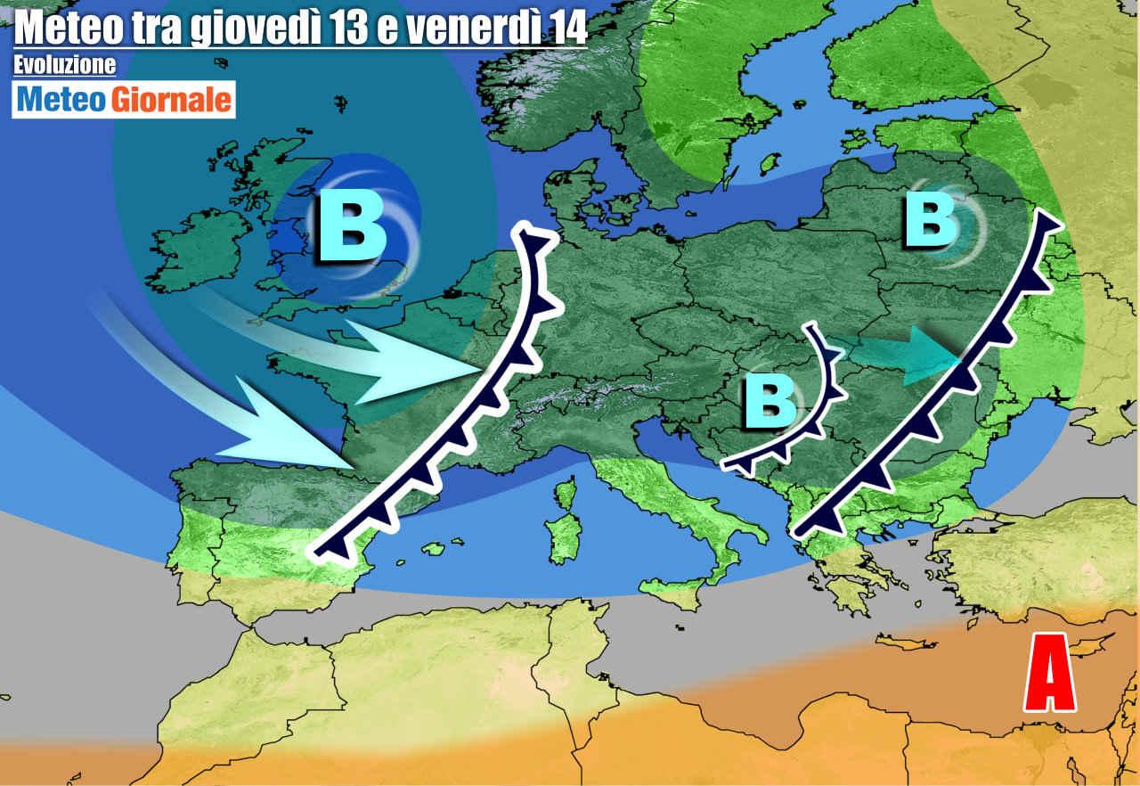 meteogiornale 7 g 10 - METEO 7 Giorni. Temporali e calo termico, nuovo Maltempo verso il fine settimana