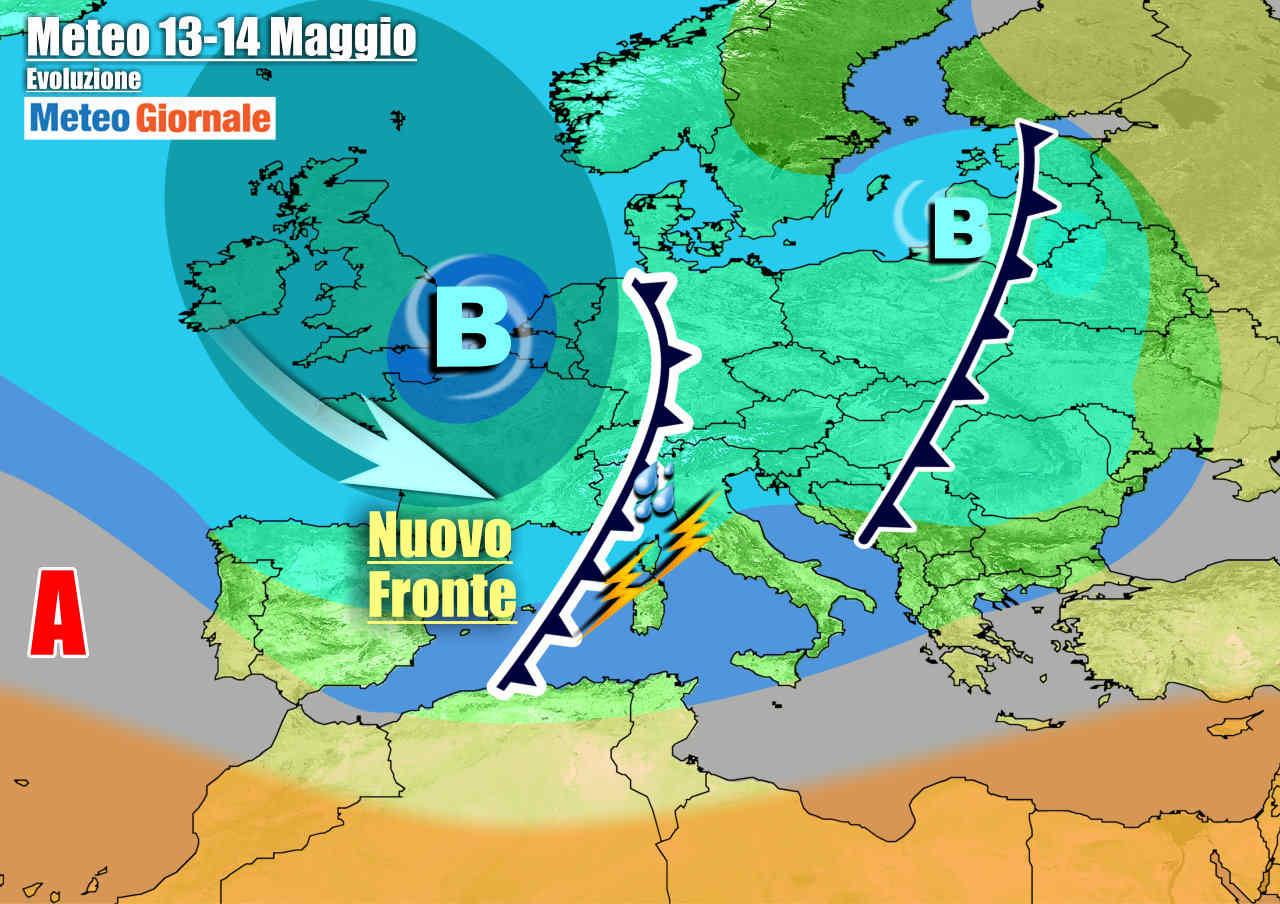 meteogiornale 7 g 11 - METEO Italia. Viavai di perturbazioni, piogge e temporali sino fine settimana