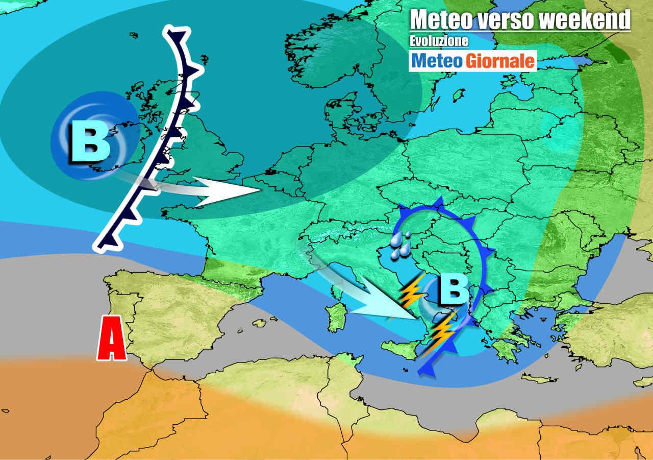 meteogiornale 7 g 12 - METEO Italia con maltempo in arrivo, temporali e grandinate