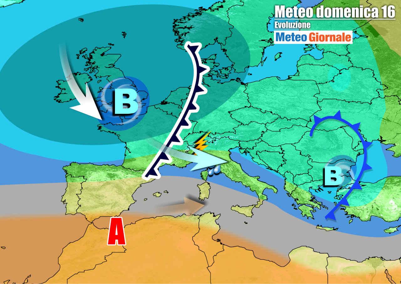 meteogiornale 7 g 13 - METEO Italia. Da una perturbazione all'altra. Weekend instabile, anche dopo
