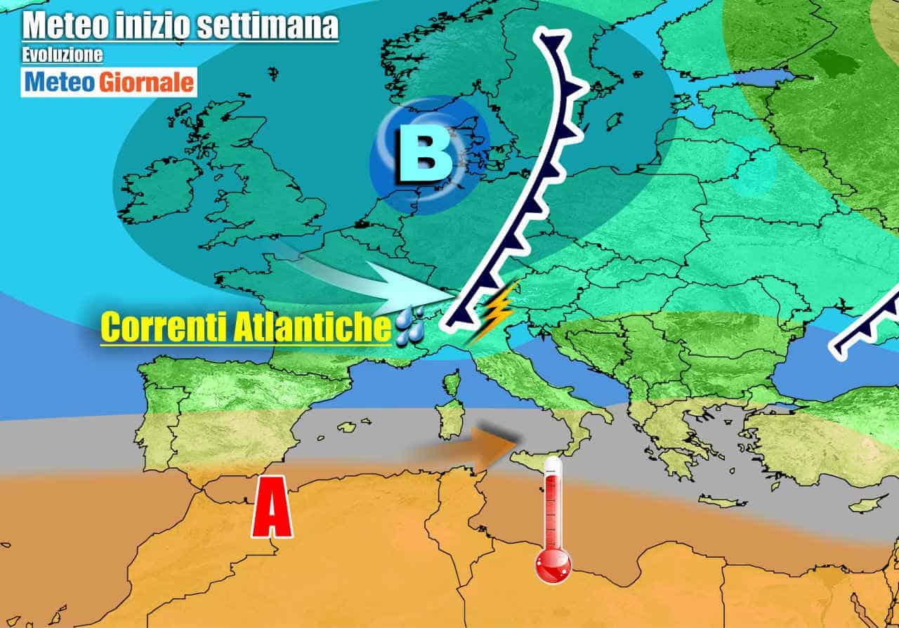 meteogiornale 7 g 14 - METEO variabile, sole e temporali. Caldo in arrivo al Sud Italia