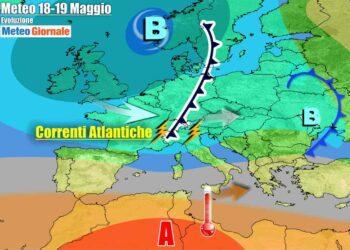 Meteo prima parte settimana, con l'Italia divisa fra anticiclone e flussi instabili dall'Atlantico