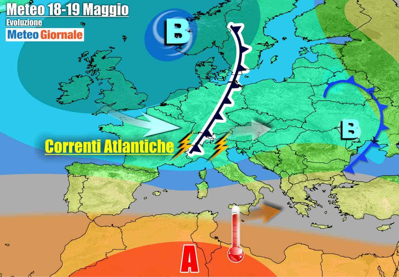 meteogiornale 7 g 15 - METEO la cronaca 7 Giorni. Italia tra perturbazioni e aria d'Africa