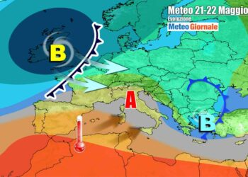 Evoluzione verso il weekend, con avanzata dell'anticiclone verso l'Italia e successive nuove insidie perturbate atlantiche