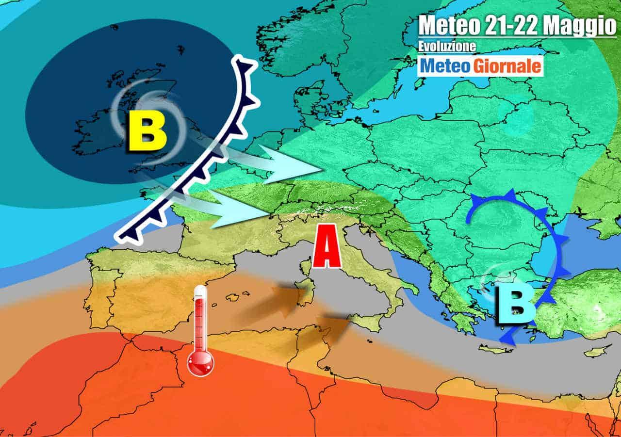 meteogiornale 7 g 18 - METEO Italia. Dal fresco al CALDO d'Africa: prove di inizio dell'ESTATE