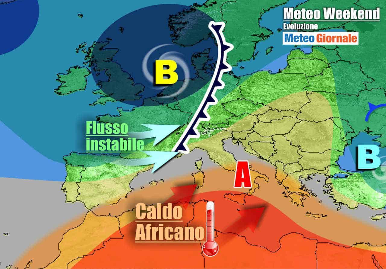 meteogiornale 7 g 19 - METEO Italia. Torna il CALDO nel weekend, ma anche FORTI TEMPORALI