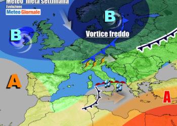 Evoluzione per metà settimana, tempo variabile sull'Italia