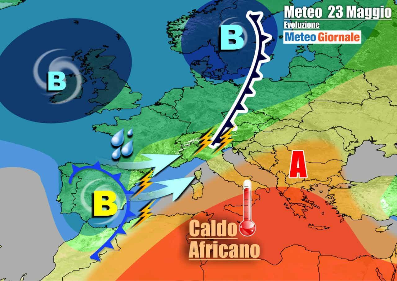 meteogiornale 7 g 20 - METEO 7 Giorni. Italia contesa fra CALDO e TEMPORALI. Tutti i dettagli