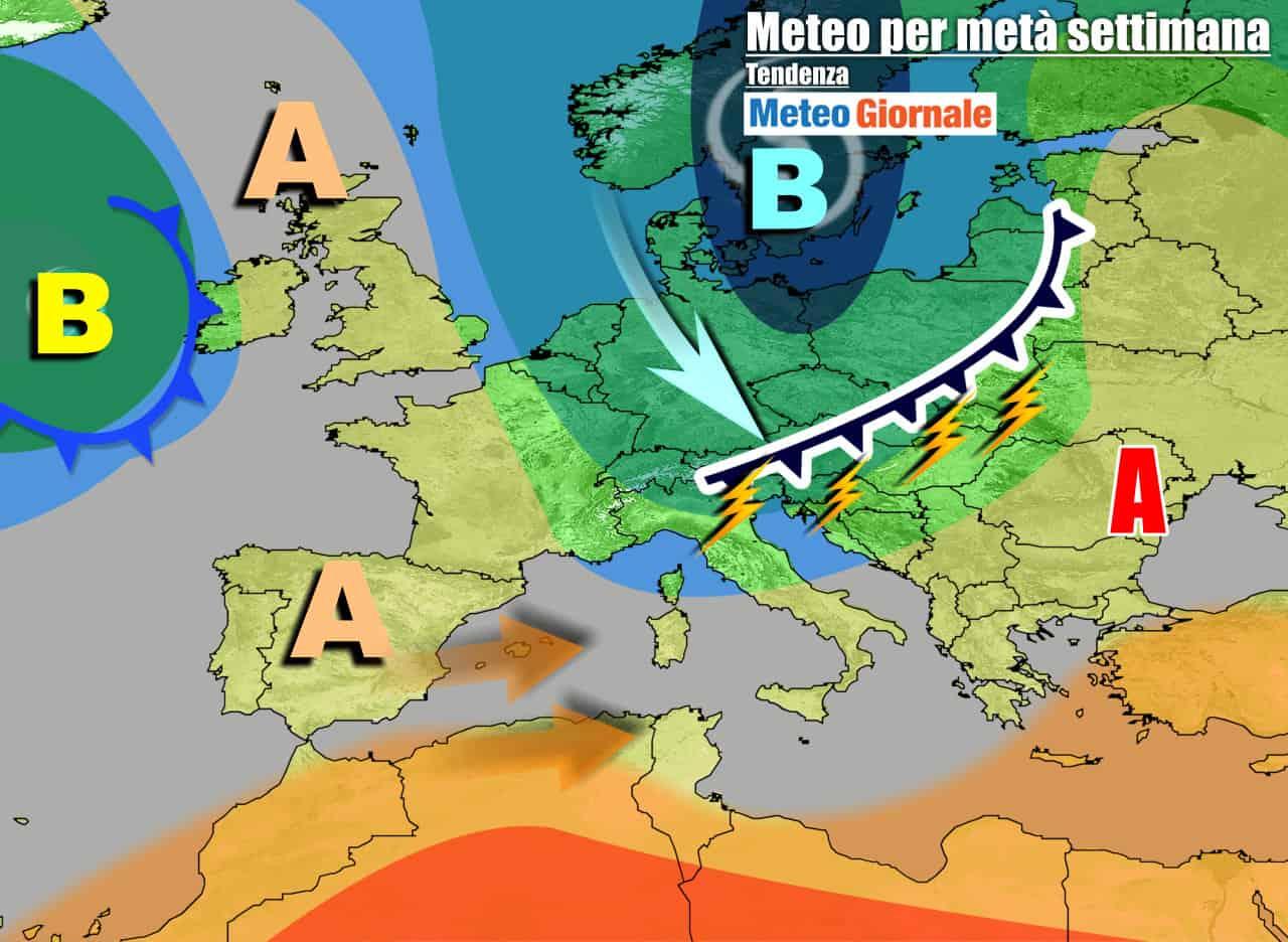 meteogiornale 7 g 24 - METEO 7 Giorni. Riecco l'anticiclone, ma nel weekend nuove grosse insidie