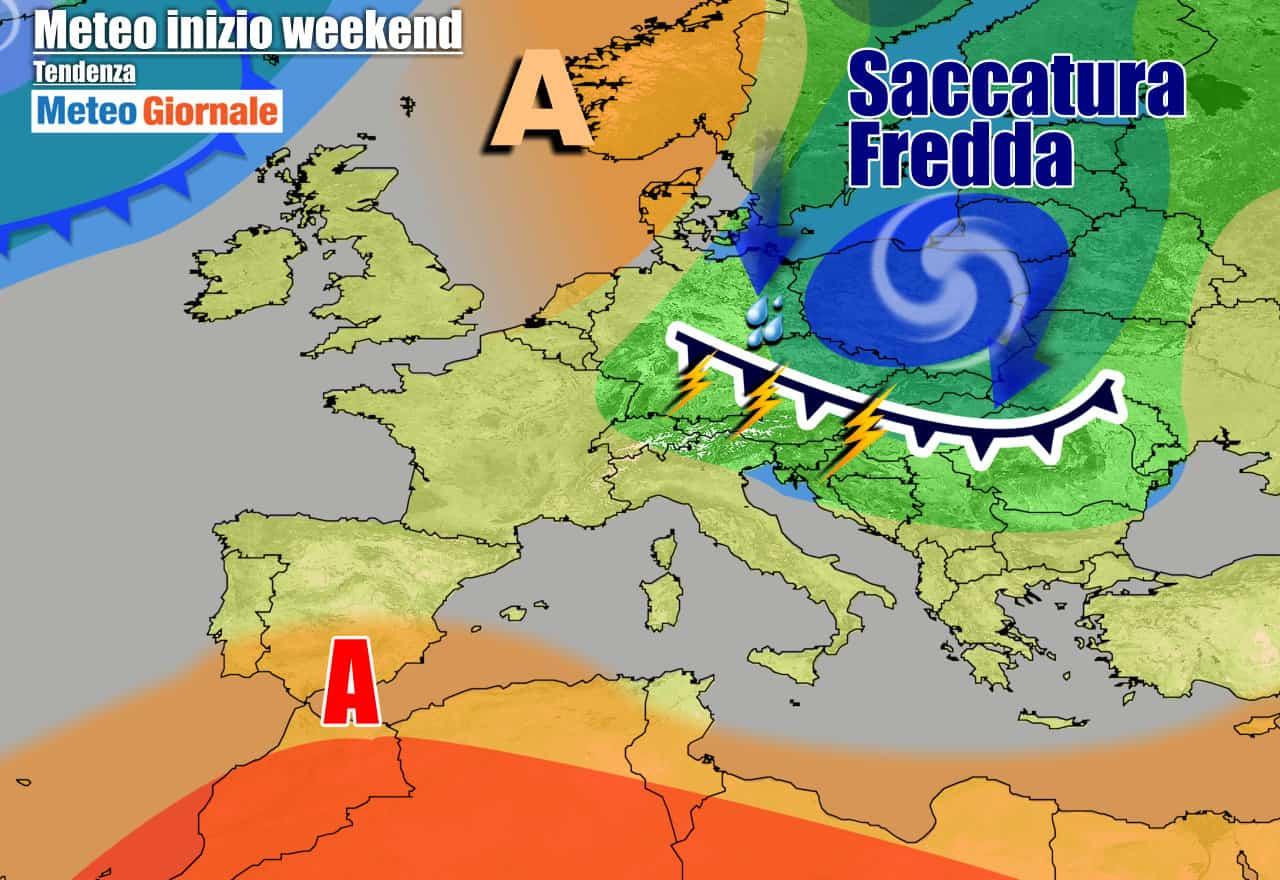 meteogiornale 7 g 26 - METEO 7 Giorni, sbalzi termici, FRESCO e TEMPORALI. Poi CALDO