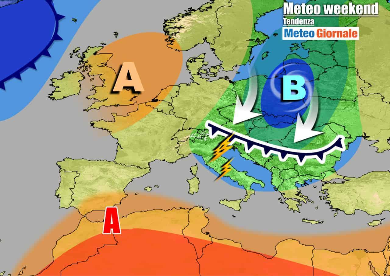 meteogiornale 7 g 27 - METEO 7 Giorni. Peggiora nel corso del weekend. ACQUAZZONI e TEMPORALI