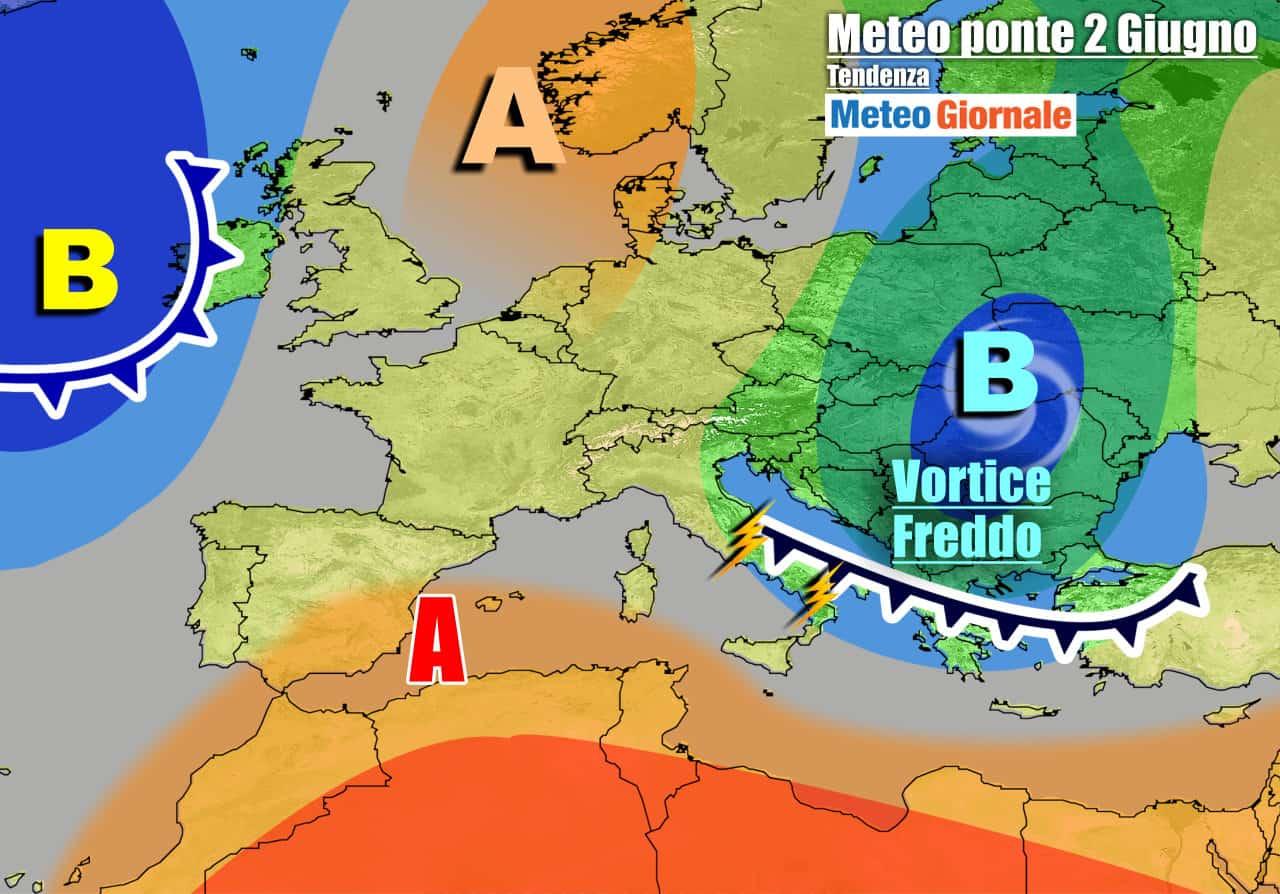 meteogiornale 7 g 28 - METEO 7 Giorni. Riecco i TEMPORALI da Nord a Sud. Temperature in calo