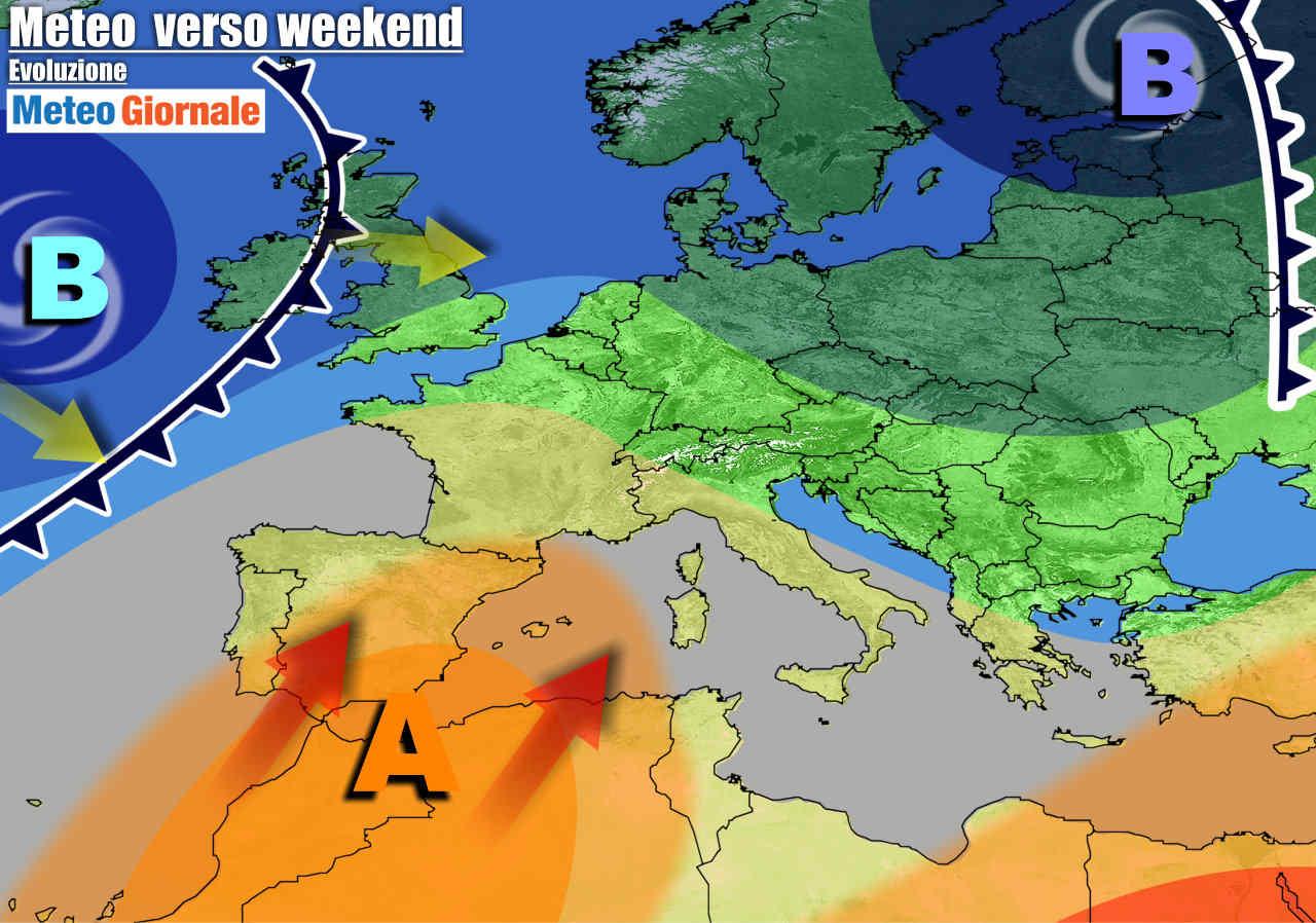 meteogiornale 7 g 5 - METEO Italia. Molto Caldo nel Weekend, poi rischio forte Maltempo