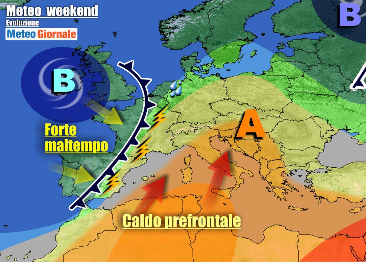 meteogiornale 7 g 6 - METEO Italia. Arriva l'anticiclone africano, ma da lunedì forte maltempo