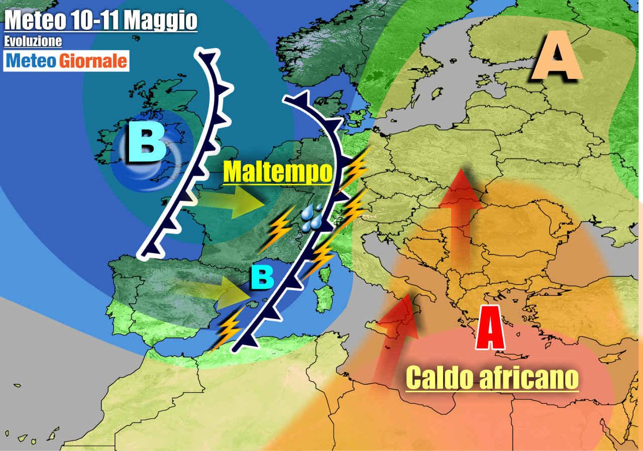 meteogiornale 7 g 8 - METEO Italia. Torna il forte MALTEMPO a partire dal Nord. Rischio Nubifragi e Grandine