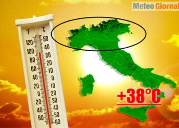 Temperature molto elevate nel meteo di fine Maggio 2021.