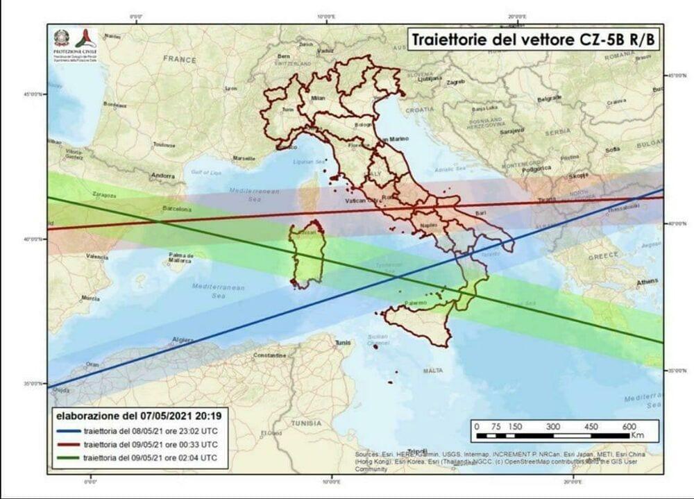 razzo cinese caduta protezione civile 2 1 - ITALIA nella ROTTA del razzo cinese in caduta sulla TERRA prossime ore