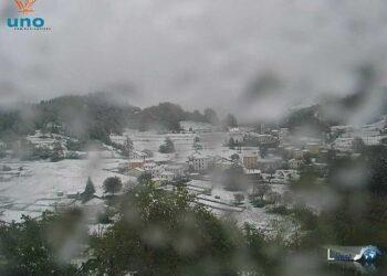 Il paesino di Pietranera di Rovegno innevato a fine maggio 2013