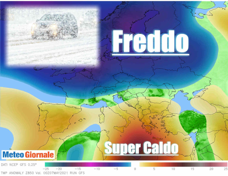 super anomalia meteo - Europa, estremi meteo fuori controllo. Cambiamenti climatici eccezionali