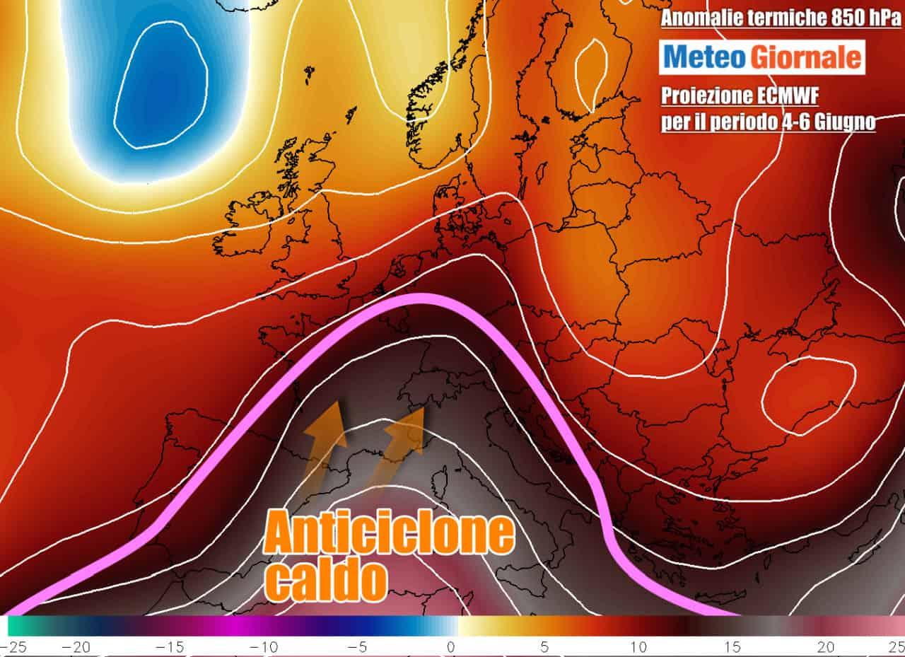 termiche 1 - METEO: il primo Caldo ROVENTE dall'Africa arriverà d'improvviso fino +38°C