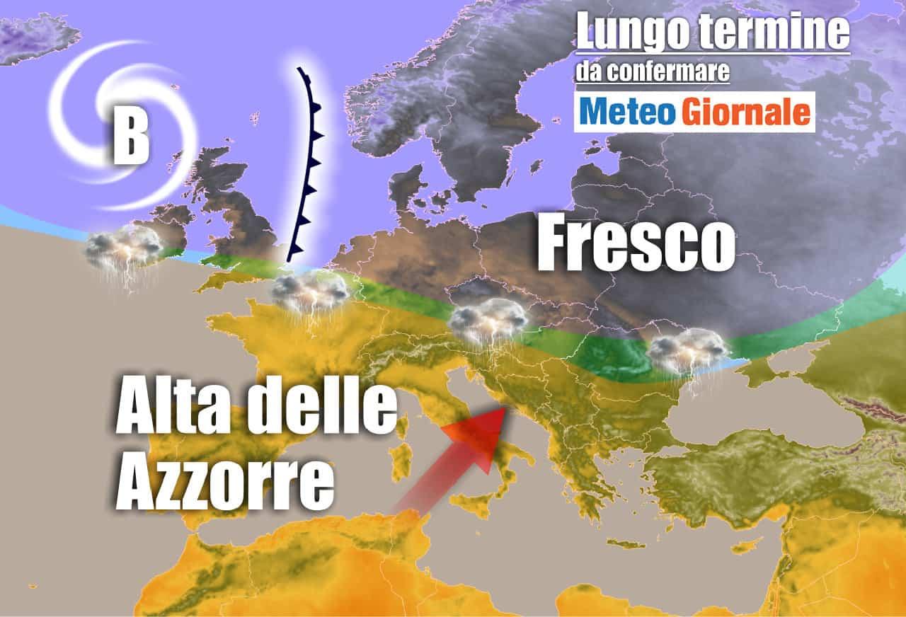 Lungo termine 6 - METEO Italia al 22 giugno: arriverà l'Anticiclone delle Azzorre