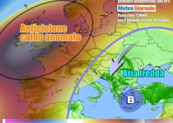 Scenario meteo in Europa verso il 10 Giugno