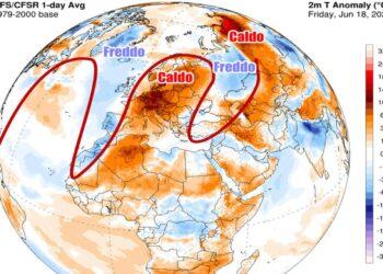 Caldo anomalo in gran parte d'Europa, con picchi anche record
