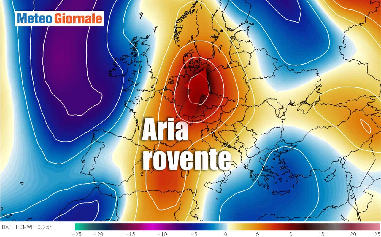 anomalie termiche - In arrivo condizioni meteo da piena ESTATE africana