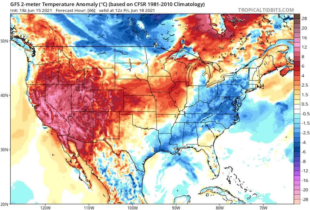 caldo estremo usa - Caldo estremo negli Stati Uniti, temperature verso record storici