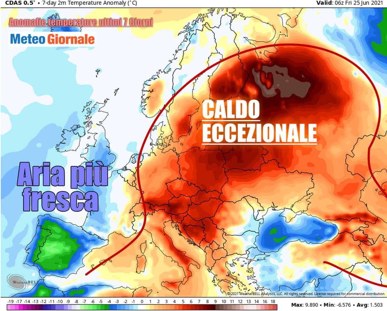 clima europa 18 24 giugno - METEO FOLLE avvio estate, valanga di RECORD di CALDO in oltre mezza Europa