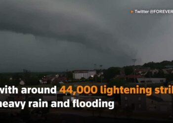 francia tempeste elettriche gran 350x250 - Video meteo con il drone in una città devastata dall'alluvione in Germania