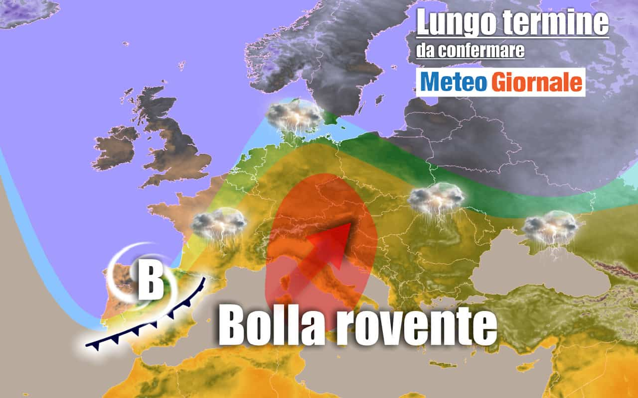 lungo termine 14 - METEO Italia al 1 luglio: potrebbe fare troppo CALDO