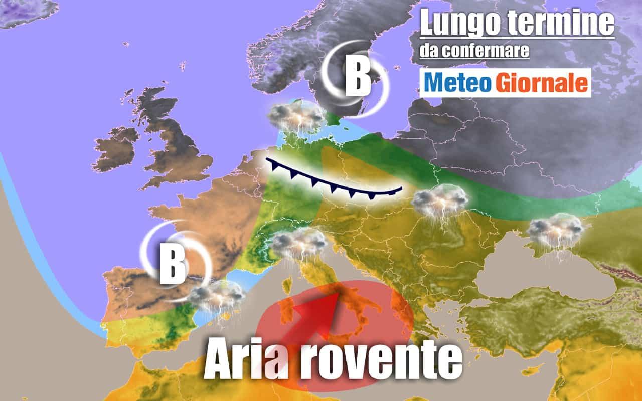 lungo termine 16 - METEO Italia al 3 luglio: CALDO forte, TEMPORALI al Nord