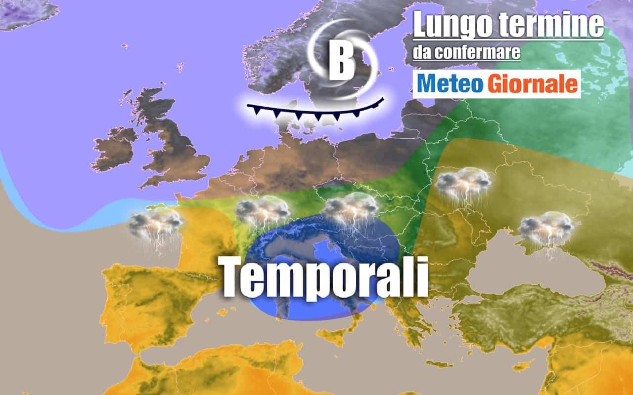 lungo termine 18 - METEO Italia al 6 Luglio: ecco un primo STOP dell'AFA con Temporali