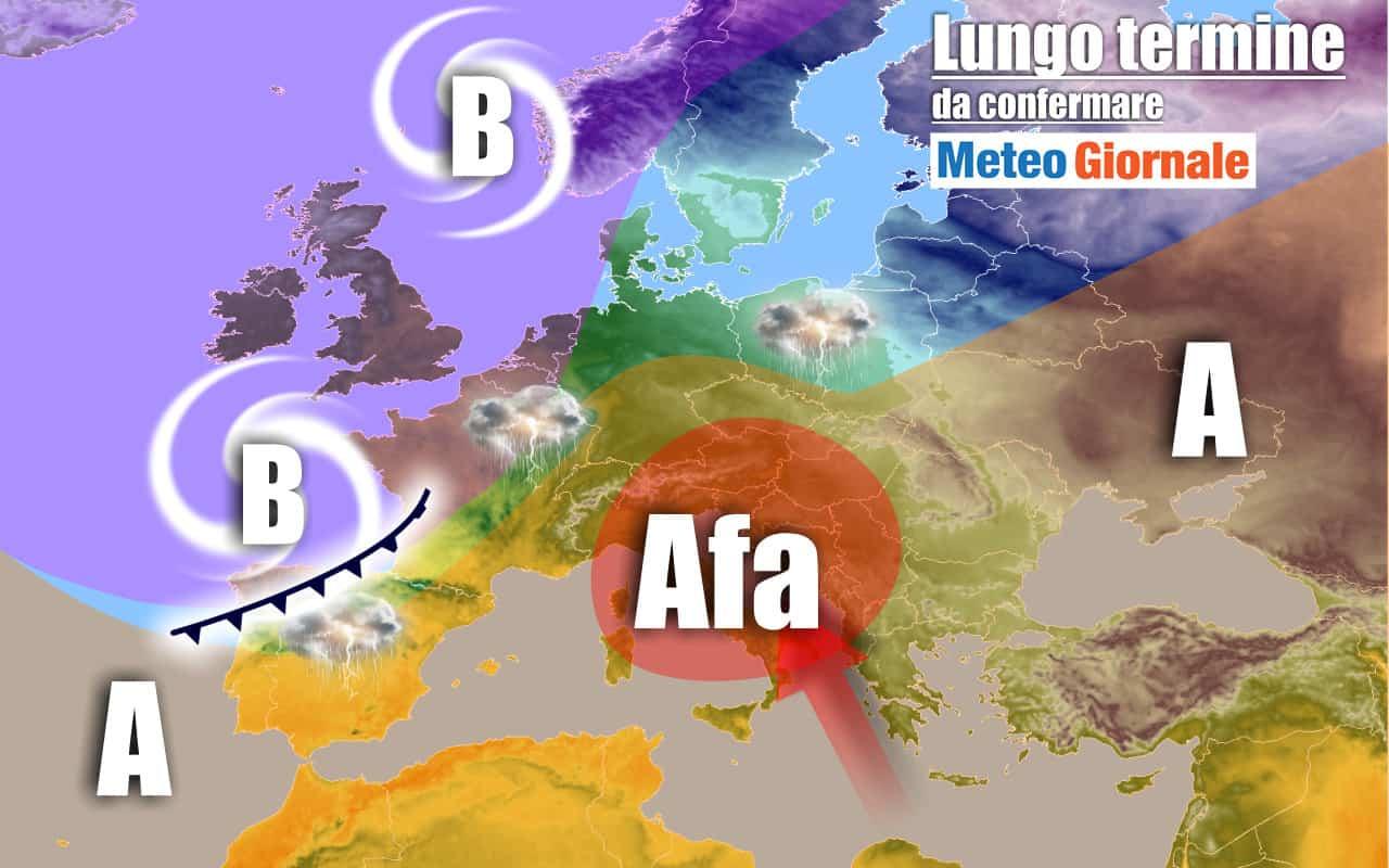 lungo termine 20 - METEO Italia all'8 Luglio: la CALURA africana continuerà
