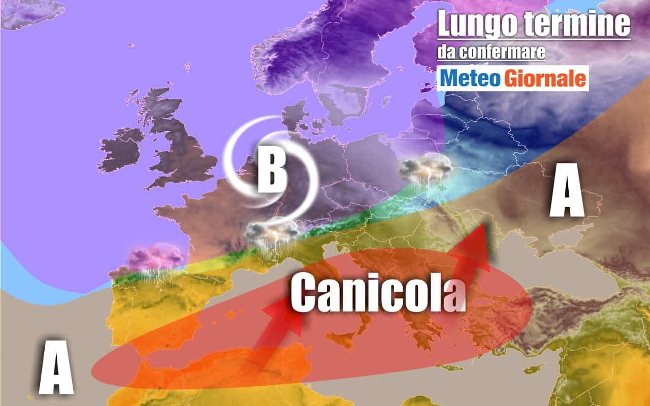 lungo termine 23 - METEO Italia al 13 luglio: tantissimo CALDO, ma anche TEMPORALI