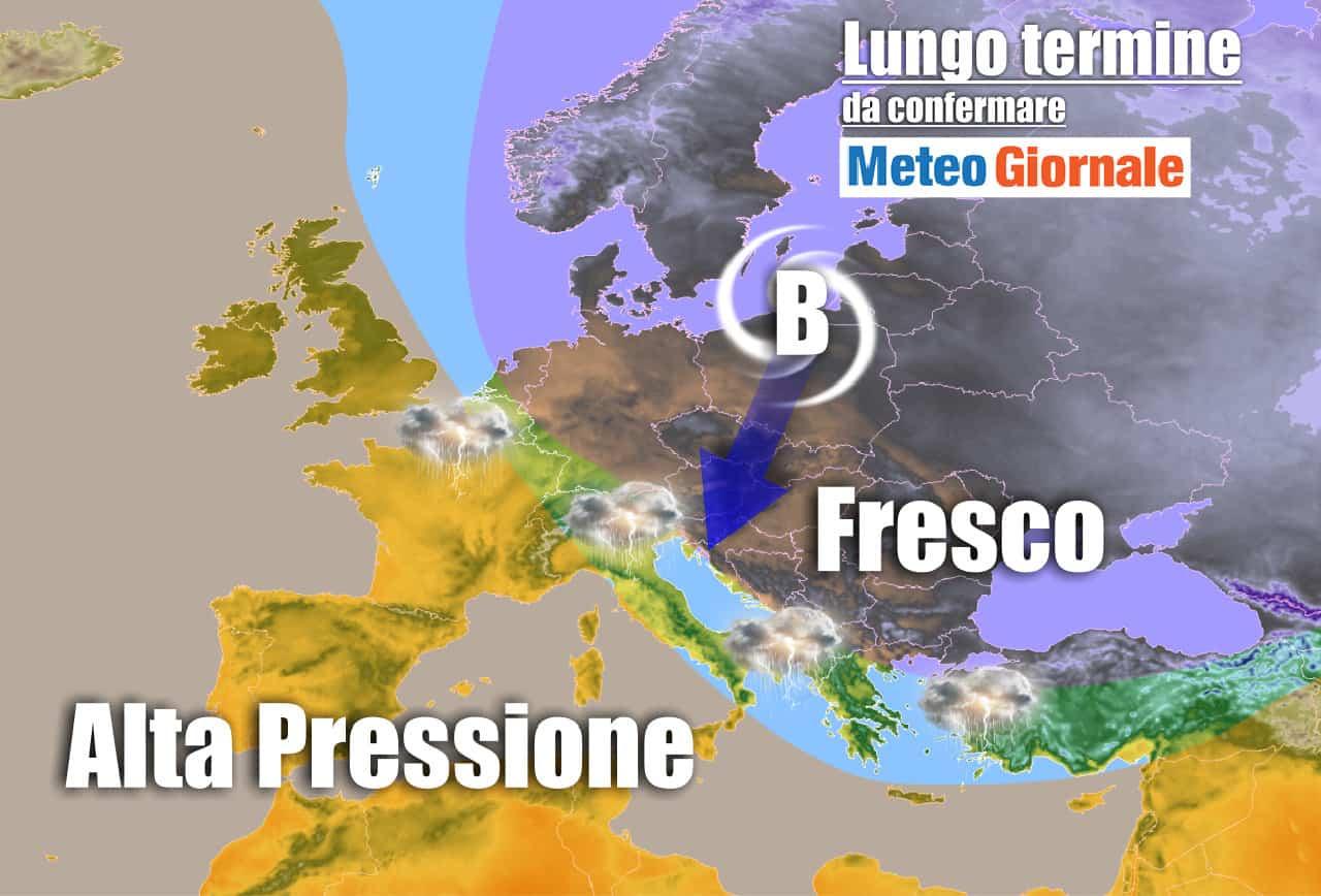 lungo termine 3 - Meteo Italia al 19 Giugno: ESTATE in falsa partenza