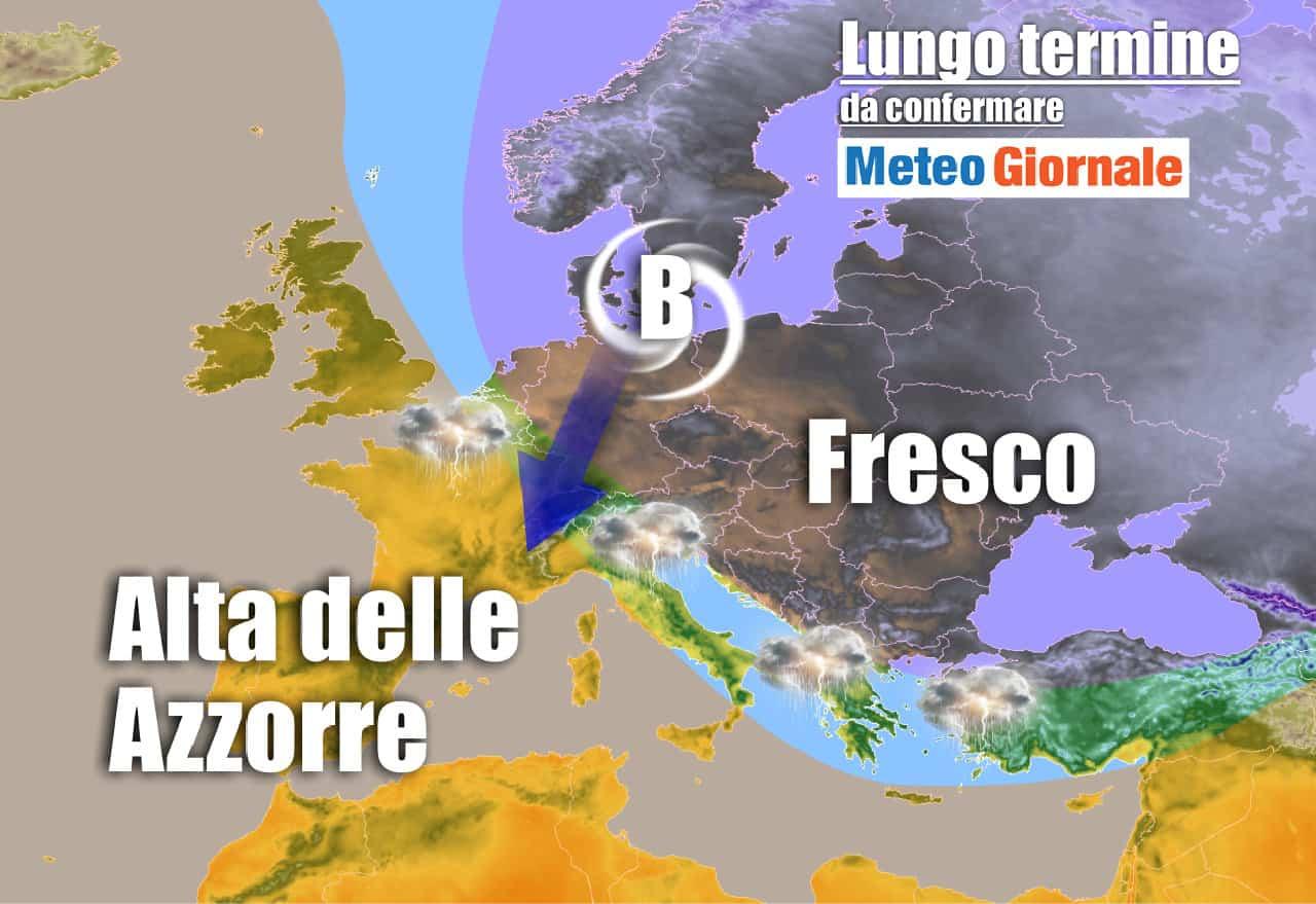 lungo termine 5 - Meteo Italia al 21 giugno: ANTICICLONE d'Estate