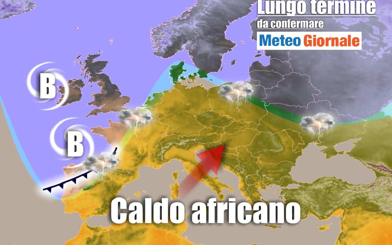 lungo termine domenica - Meteo Italia al 28 giugno: ANTICICLONE africano e gran caldo