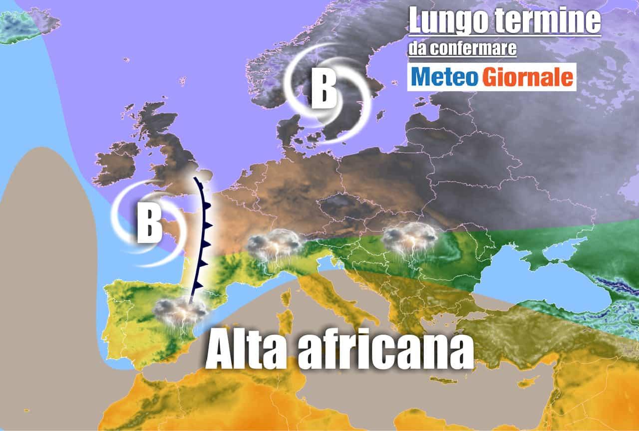 lungo termine - Meteo Italia al 16 giugno: sole, CALDO e TEMPORALI