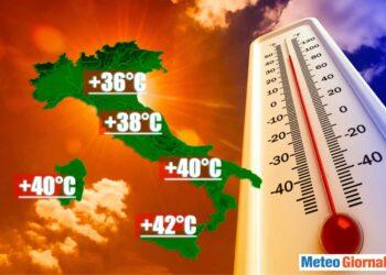 Centro Meteo Americano NCEP. Rischio ondata di calore.