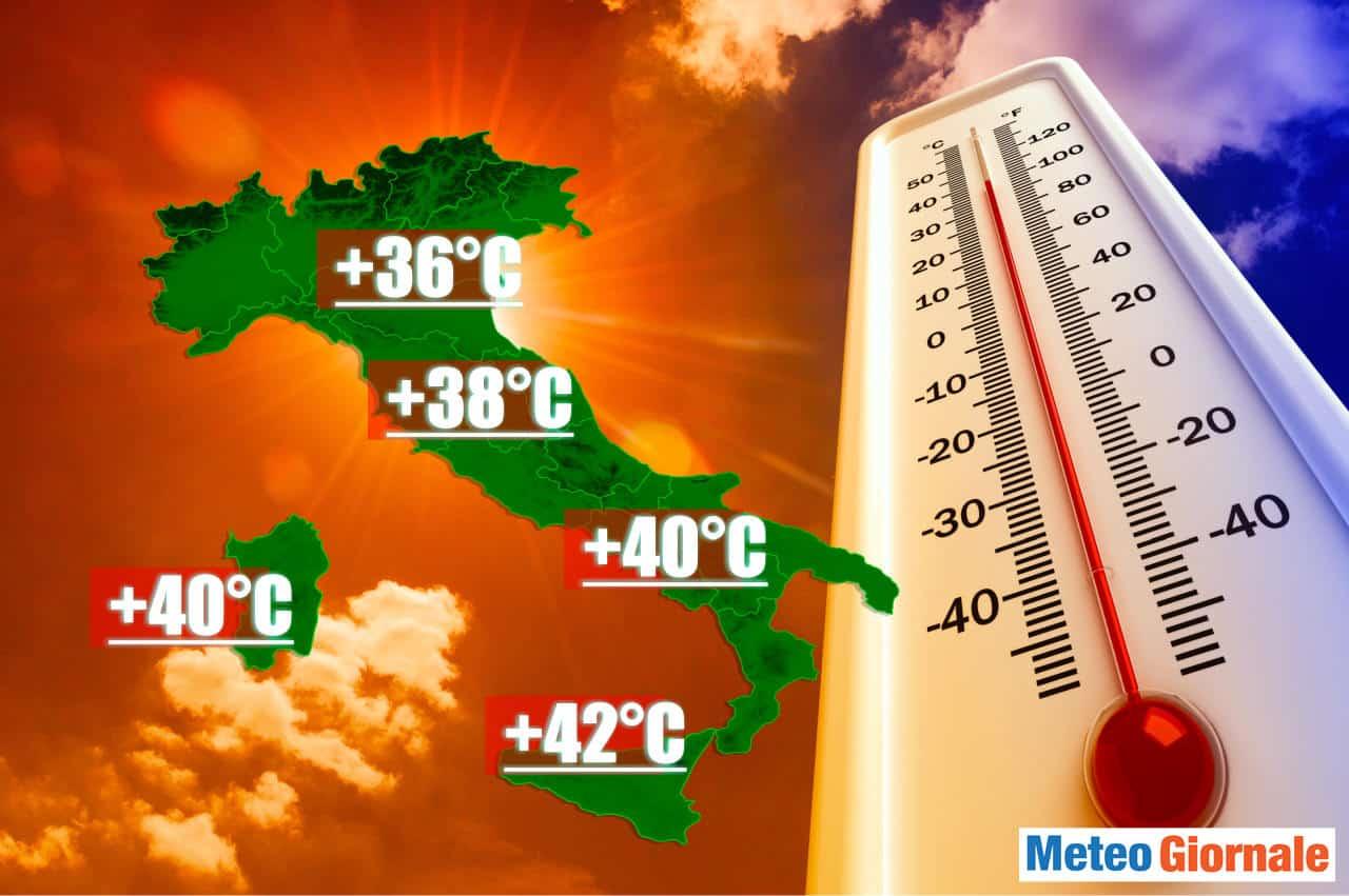 meteo con ondata di calore 1 - METEO: stima Onda di CALORE sino al 21 Giugno di forte intensità
