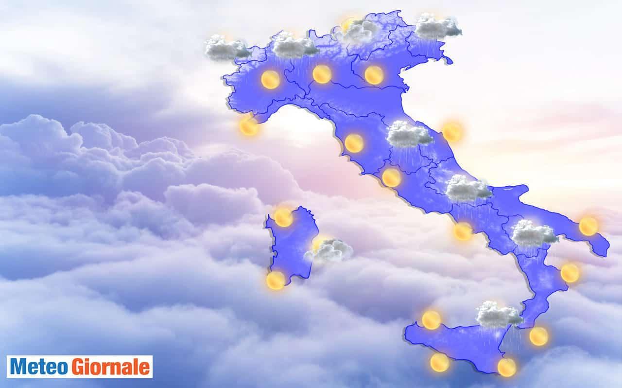 meteo domani 12 giugno 2021 - Meteo Domani 13 Giugno 2021: che dice l'Aeronautica Militare