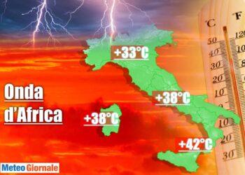 meteo influenzato da aria africana