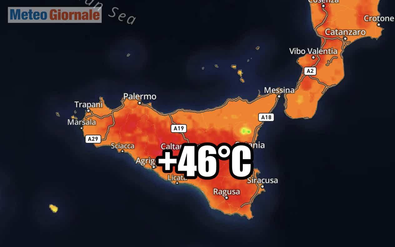 meteo sicilia ondata di calore record - Meteo Sicilia, misurati 46°C. Temperature atroci, record in varie località