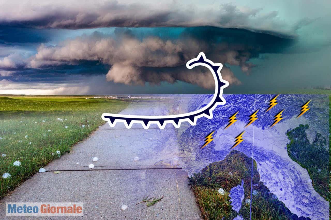meteo temporalesco al nord italia - Meteo Nord Italia, Rischio improvvisi NUBIFRAGI e GRANDINE. Il refrigerio